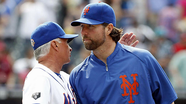 R.A. Dickey (right) is one of several stars Terry Collins considers a major key for the Mets. (US Presswire)
