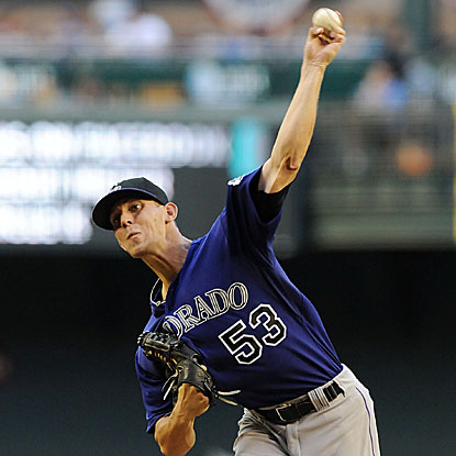 Rookie Christian Friedrich allows four hits in seven innings to lead the Rockies to their seventh win in eight games.  (Getty Images)