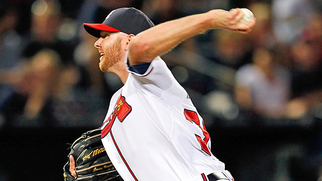 The Braves are limiting Jonny Venters, who led the majors in 2011 with 85 appearances. (Getty Images)