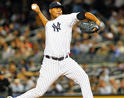 Ivan Nova pitches into the ninth inning for the first time in his career, and helps the Yankees move ahead of the Rays.  (US Presswire)