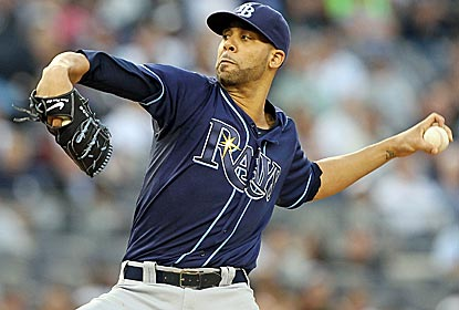 David Price strikes out eight in five innings to earn his AL-leading eighth win of the season.  (Getty Images)