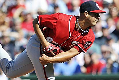Gio Gonzalez pitches 6 1/3 effective innings for Washington, which takes the first two after coming in 0-9 at Fenway. (US Presswire)