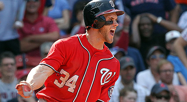 Bryce Harper has the most home runs by a teenager since Adrian Beltre in 1998. (Getty Images)