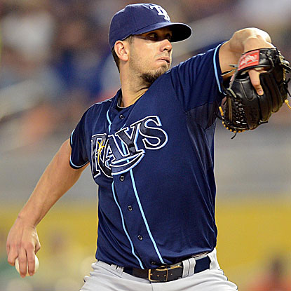 The Rays' James Shields had lost his past three decisions before earning the win vs. the Marlins.  (AP)