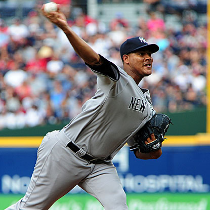 The Yankees' Ivan Nova pitches seven strong innings for his fourth straight win and also collects his first career base hit.  (Getty Images)