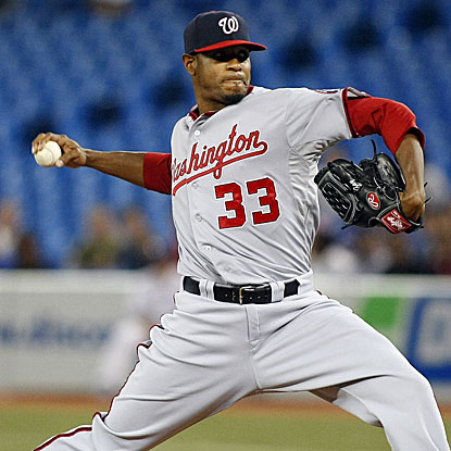 The Nationals' Edwin Jackson throws eight strong innings to win consecutive starts for the first time this season. (US Presswire)