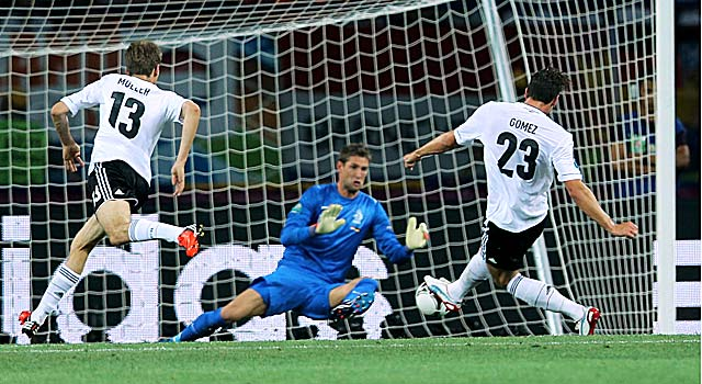 Gomez's goals carry Germany in one of the tourney's most anticipated showdowns. (Getty Images)