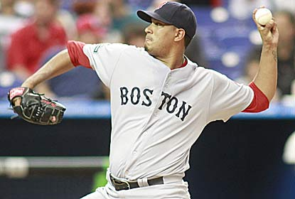 Felix Doubront takes a no-hitter into the sixth in his longest outing of the season. (Getty Images)