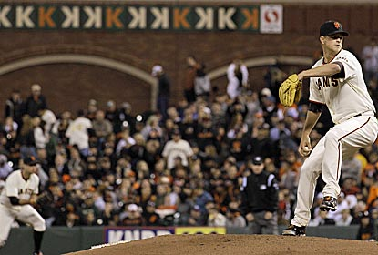 Matt Cain strikes out a career-high 14 and throws 125 pitches for the 22nd perfect game in MLB history. (AP)