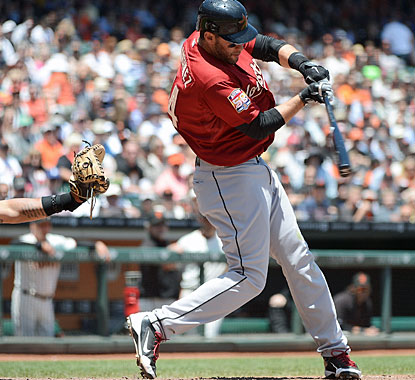 Houston's J.D. Martinez smacks his first career grand slam in the third inning. (Getty Images)