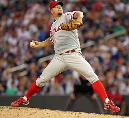 Joe Blanton ends a stretch of five poor starts by going the distance for the eighth time in his career. (AP)