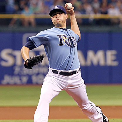 Matt Moore allows just a single and strikes out eight in seven innings of work as the Rays pound the Marlins.  (US Presswire)