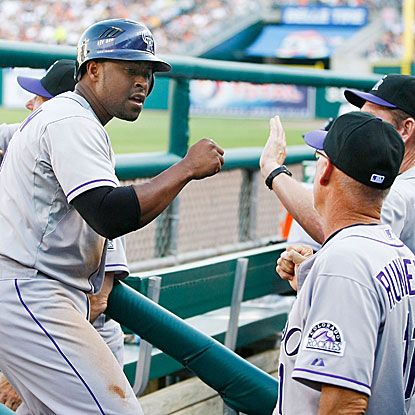 The Rockies are the first team to score eight or more runs in an extra inning since August 2009.  (Getty Images)