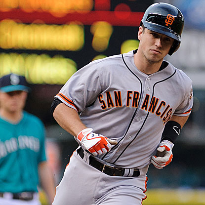 Buster Posey's second-inning home run into the second deck put the Giants on the board early in their win over the Mariners.  (US Presswire)