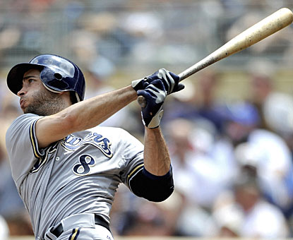 Ryan Braun smacks two home runs and adds a double for a productive afternoon for Milwaukee. (Getty Images)