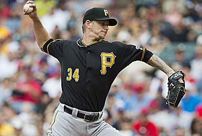 A.J. Burnett, who usually struggles in Cleveland, becomes the first Pittsburgh pitcher to win six straight starts since 1990. (Getty Images)
