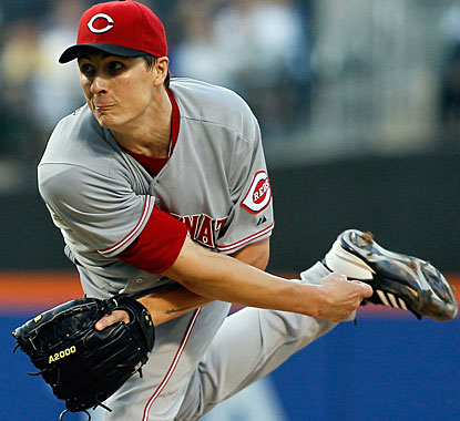 Homer Bailey gets himself in a few jams, but manages to work his way out of the trouble for the Reds. (Getty Images)