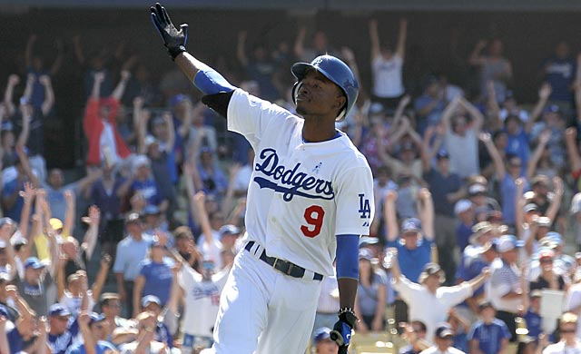 Dee Gordon and the Dodgers have been in first place for all but two days this season. (Getty Images)