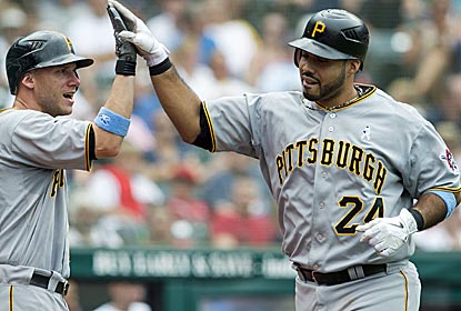 Pittsburgh's Pedro Alvarez drives in a career-high six runs while notching his second consecutive two-homer game.  (Getty Images)