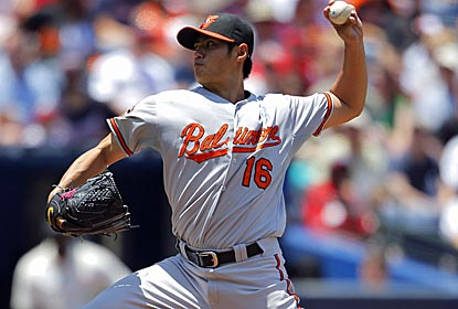 Orioles starter Wei-Yin Chen goes seven strong innings to help Baltimore to its seventh victory in eight games.  (Getty Images)