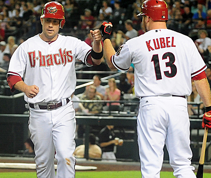 Aaron Hill becomes just the fifth player in Diamondbacks history to hit for the cycle. (US Presswire)
