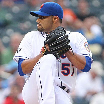 Johan Santana follows R.A. Dickey's second one-hitter with six shut out innings as the Mets blank the O's again.  (US Presswire)