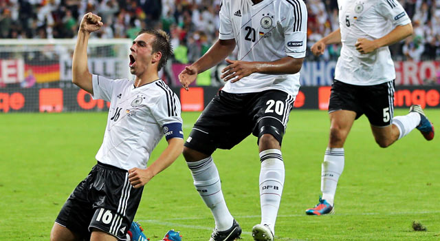 Philipp Lahm and Germany will make their record seventh appearance in the semis. (Getty Images)
