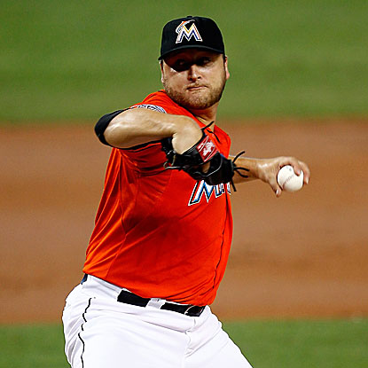 The Marlins' Mark Buehrle defeats the Blue Jays and becomes the winningest pitcher in interleague play.   (Getty Images)