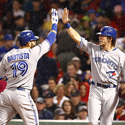 Jose Bautista and Colby Rasmus each connect for two-run homers to help the Blue Jays to their fourth win in six games.  (US Presswire)