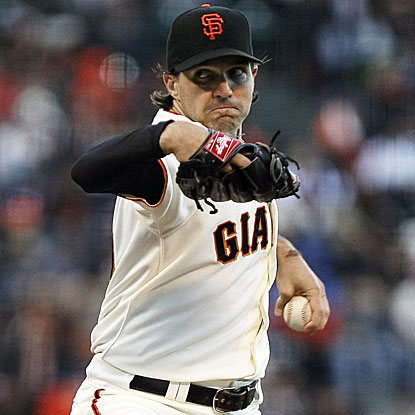 The Giants' Barry Zito throws seven shutout innings to beat the Dodgers for the first time in nine starts.  (US Presswire)