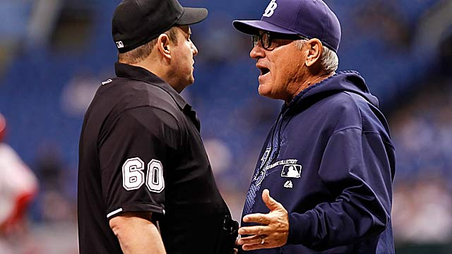 Joe Maddon hasn't only gotten into it with umps, but fellow managers as well. (Getty Images)