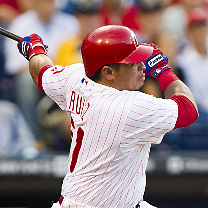 Carlos Ruiz's eighth-inning home run provides the Phillies with an important insurance run. (US Presswire)