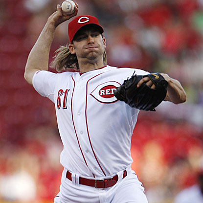 The Reds' Bronson Arroyo allows only one man to reach until the eighth inning, when his no-hit bid is broken up. (US Presswire)