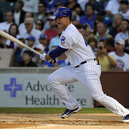 In his first game with the Cubs, Anthony Rizzo collects two hits and drives in the go-ahead run. (US Presswire)