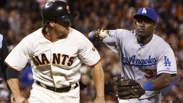 The Giants will soon be the ones being chased in the standings -- if the Dodgers' slide continues. (Getty Images)