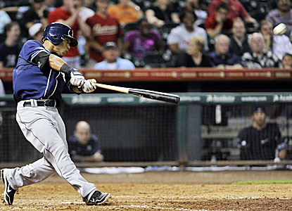 Alexi Amarista's grand slam smacker caps a six-run rally for San Diego in the ninth inning. (AP)