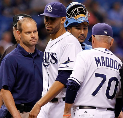 David Price exits abruptly after seven innings but says he expects to make his next start.  (Getty Images)