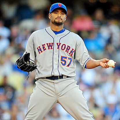 Johan Santana allows three hits and no runs in eight innings as the Mets shut out the Dodgers for the second consecutive game.  (US Presswire)