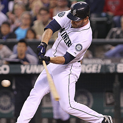 John Jaso's two-run double in the sixth inning gives the Mariners a 2-0 lead over the Red Sox. (Getty Images)