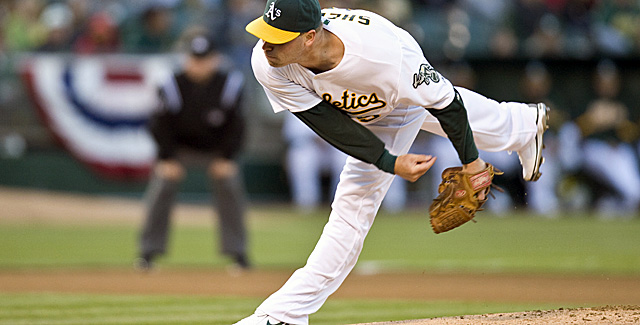Sheets, who signed on with the Braves, last pitched in 2010 for the A's. (US Presswire)