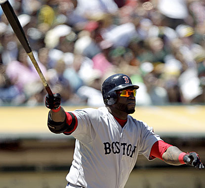 David Ortiz follows through on his 400th career home run and becomes the 49th player in MLB history to reach the milestone.  (AP)