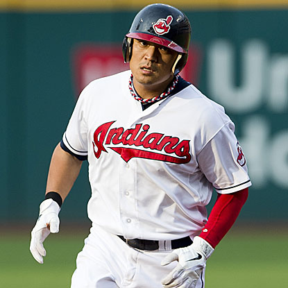Shin-Soo Choo goes 2 for 3 including a leadoff homer in the Indians' victory against the Rays.  (Getty Images)
