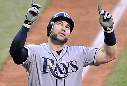 Luke Scott snaps a team-record hitless streak with a two-run homer after entering the game 0 for 41 since June 1. (US Presswire)