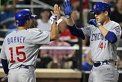 Anthony Rizzo hits a three-run homer in the fifth as the Cubs hold on for their eighth win in 11 games. (US Presswire)