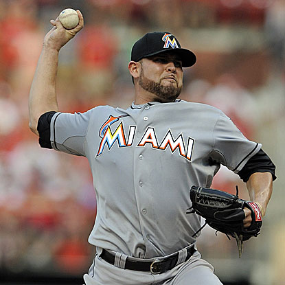 The Marlins' Ricky Nolasco defeats the Cardinals for the first time in five career decisions. (US Presswire)