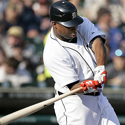 The Tigers' Delmon Young homers for the third straight game, a first for his career.  (AP)