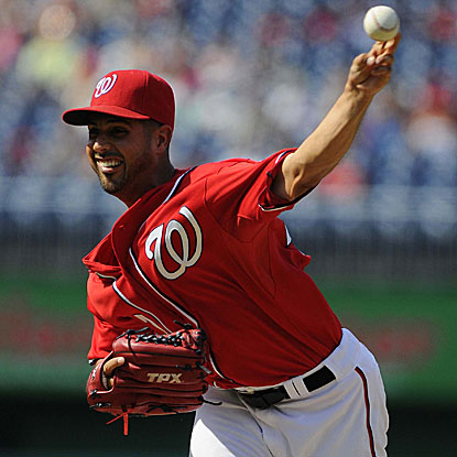 The Nationals' Gio Gonzalez pitches six innings of three-hit ball to beat the Rockies and earn his fourth consecutive victory.  (AP)