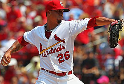 Kyle Lohse pitches seven innings of three-hit ball to beat the Marlins for the third time this season. (Getty Images)