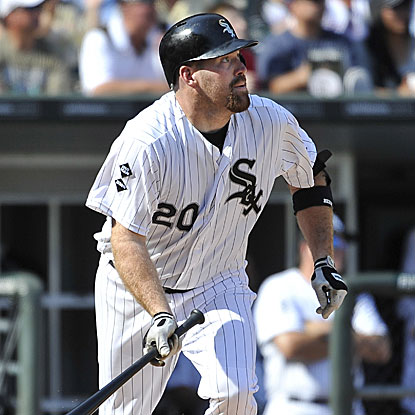 Kevin Youkilis' two-run homer helps the White Sox win and improve to a season-high 10 games over .500. (Getty Images)
