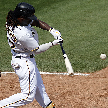 Andrew McCutchen hits two two-run homers in the Pirates' win and enters the All-Star break on a 20-for-37 (.540) tear.  (Getty Images)